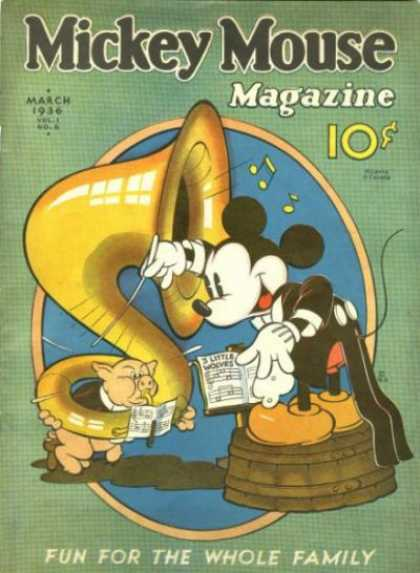 Mickey Mouse Magazine, v1 #6, March 1936