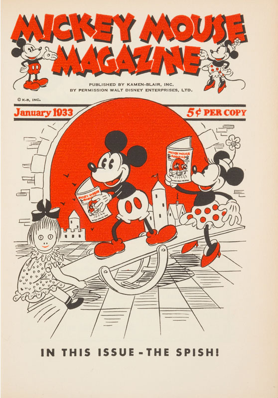 Mickey Mouse Magazine Cover January 1933